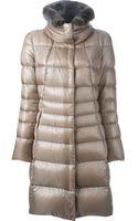 Herno Fur Collar Padded Coat - Lyst