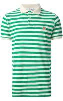 Maison Kitsuné Striped Polo Shirt - Lyst