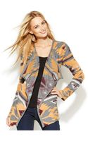 Inc International Concepts Openfront Draped Printed Cardigan - Lyst