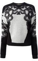 Roberto Cavalli Snake Embroidered Sweater - Lyst