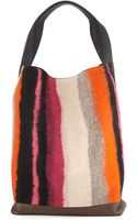 Marni Heavy Stripe Wool Shoulder Bag - Lyst
