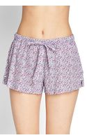 Forever 21 Spotted Floral Pj Shorts - Lyst