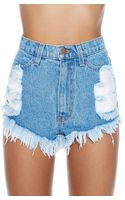Nasty Gal Pride On Cutoff Shorts - Lyst