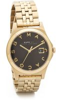 Marc By Marc Jacobs The Slim Watch Goldblack - Lyst