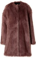 MSGM Faux Fur Coat - Lyst