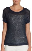 Ellen Tracy Sequined Knit Top - Lyst