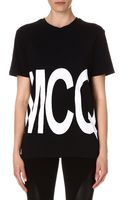 McQ by Alexander McQueen Mcq Boyfriend Logoprint Tshirt Alexander Mcqueen Black - Lyst