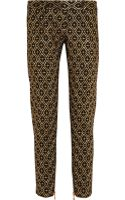 Balmain Metallic Embroidered Twill Skinny Pants - Lyst