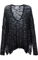Helmut Lang Oversize Loose Knit Sweater - Lyst