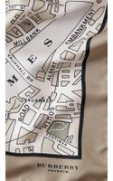 Burberry Paris Landmark Silk Square - Lyst