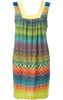 M Missoni Zig Zag Print Dress - Lyst