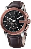 Gucci G-chrono Gold-plated Stainless Steel Chronograph Watch - Lyst