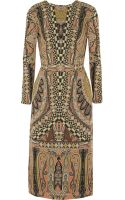 Etro Printed Woolcrepe Dress - Lyst
