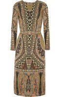 Etro Printed Woolcrepe Dress - Lyst