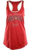 47 Brand Womens Sleeveless St Louis Cardinals Racerback Tank Top - Lyst
