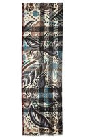 Burberry Prorsum Cashmere Floral and Check Scarf - Lyst