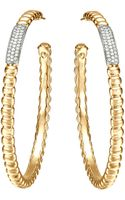 John Hardy Gold Bedeg Pave Diamond Large Hoop Earrings - Lyst