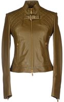 Michael Kors Leather Outerwear - Lyst