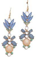 Adia Kibur Floral Crystal Drop Earrings - Lyst