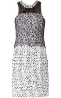 Oscar de la Renta Tweed and Lace Dress - Lyst