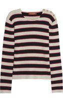 Valentino Striped Cashmere Sweater - Lyst