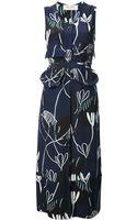 Marni Abstract Print Midi Dress - Lyst