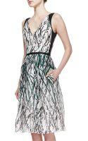 Carolina Herrera Paintsplatter Pocket Silk Dress - Lyst