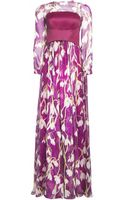 Matthew Williamson Snowdrop Print Chiffon Long Sleeved Evening Gown - Lyst