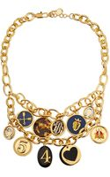 Tory Burch Delora Shiny Charm Necklace - Lyst
