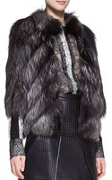 J. Mendel Silver Fox Fur Jacket - Lyst