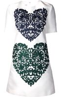 Stella McCartney Heart Embroidered Dress - Lyst