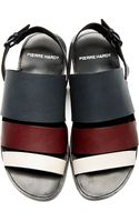 Pierre Hardy Grey Burgundy and Cream Slingback Sandals - Lyst