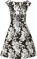 Oscar de la Renta Printed Cotton-twill Dress - Lyst