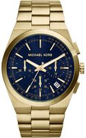 Michael Kors Oversize Goldencobalt Stainless Steel Channing Chronograph Watch - Lyst