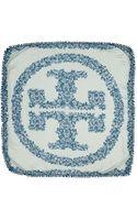 Tory Burch Primula Logo Square Scarf - Lyst