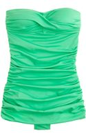 J.Crew Skirted Twist Bandeau Tank - Lyst