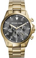 Michael Kors Oversize Golden Stainless Steel Gage Chronograph Watch - Lyst