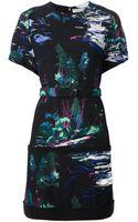 Balenciaga Landscape Print Dress - Lyst