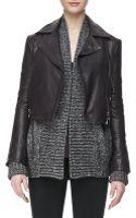 J Brand Aiah Leather Zipfront Jacket Kona - Lyst