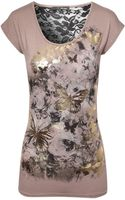 Jane Norman Butterfly Lace Back Tshirt - Lyst