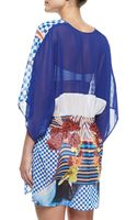 Clover Canyon Crashing Waves Printed Coverup - Lyst