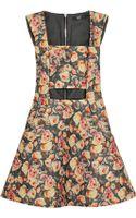 Markus Lupfer English Rose Olivia Printed Woolblend Mini Dress - Lyst