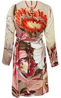 Vivienne Westwood Red Label Multicoloured Floral Long Sleeve Wrap Dress - Lyst