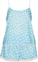 Topshop Womens Daisy Print Pj Cami and Shorts Pale Blue - Lyst