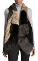 Jocelyn Rabbit Fur Open Vest - Lyst