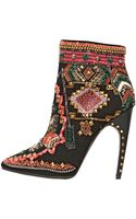 Emilio Pucci 115mm Suede Embroidered Ankle Boots - Lyst