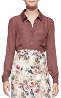 Haute Hippie To Jj with Love Printed Button-down Blouse - Lyst