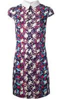 Peter Pilotto Geometric Print Shirt Dress - Lyst