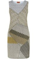 Missoni Metallic Patchwork Mini Dress - Lyst