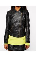 Doma Moto Leather Jacket with Zips - Lyst
